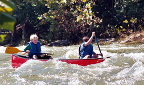 canoe in compton's rapid