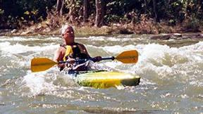 kayak in compton's rapid