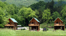 Hook, Line and Sinker cabins in Spring