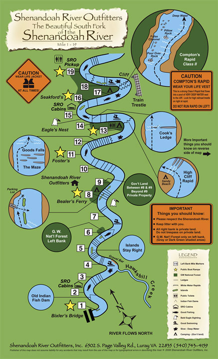 Shenandoah River Map