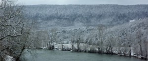 Winter view of River