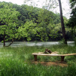 bonfire spot by Shenandoah River