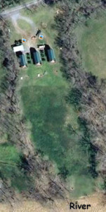 Google earth view of cabins