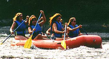 Rafting the Shenandoah for fun with friends