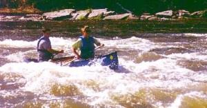 Waves and kayak