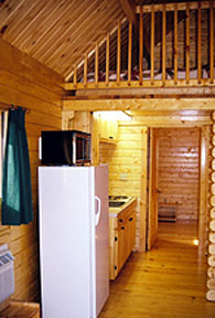 river cabin kitchen