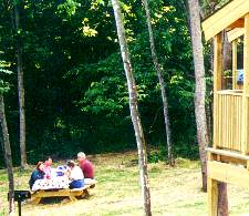 picnic area at cabins