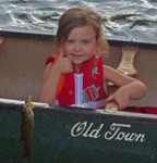 girl with first fish