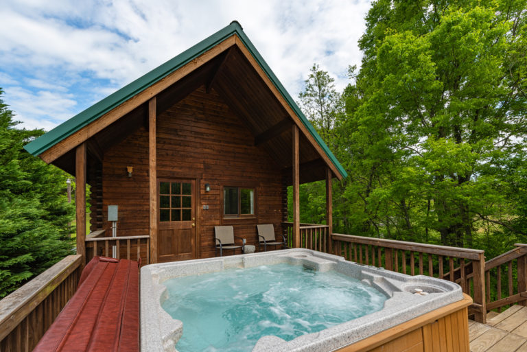 Sinker cabin & hot tub