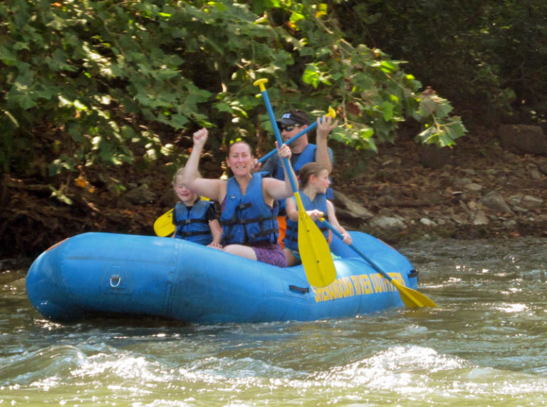 Family raft trip
