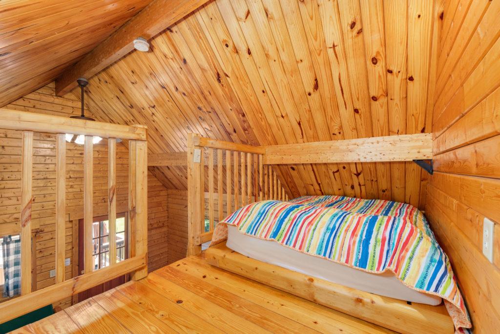 Double bed in Loft