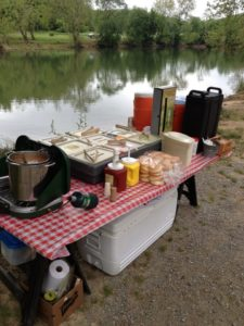Lunch ready by River