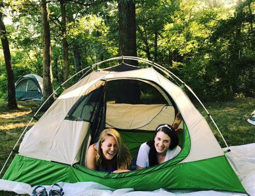 tent camping at SRO