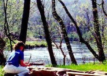 Bonfire area at River