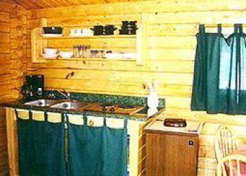 rental cabin mini-kitchen